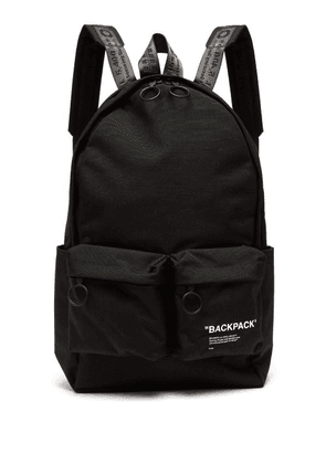 Off-white - Quote Backpack - Mens - Black