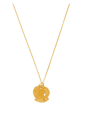 Alighieri - The Forgotten Memory Gold Plated Coin Necklace - Womens - Gold