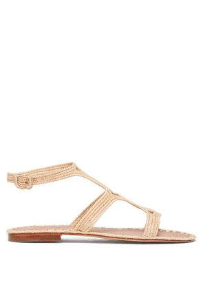 Carrie Forbes - Hind Raffia Sandals - Womens - Cream