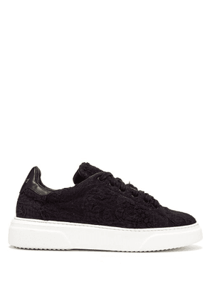 By Walid - 19th Century Panelled Low Top Trainers - Womens - Indigo