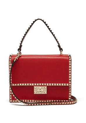 Valentino - Rockstud No Limit Leather Cross Body Bag - Womens - Red