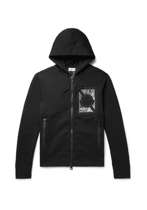 Moncler Genius - 5 Moncler Craig Green Nylon-panelled Cotton-blend Jersey Zip-up Hoodie - Black