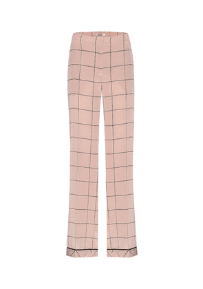 Silk printed trousers