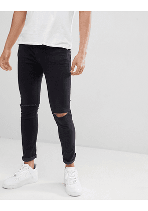 Jack & Jones Intelligence skinny fit jean with rip knee