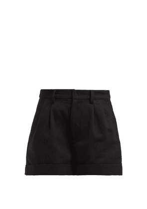 Isabel Marant - Kab High Rise Cotton Blend Shorts - Womens - Black