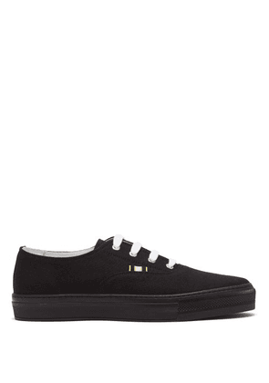 Aprix - Canvas Low Top Trainers - Mens - Black