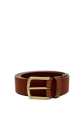 Anderson's - Pebbled Leather Belt - Mens - Brown