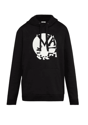 Valentino - Circle Logo Hooded Sweatshirt - Mens - Black
