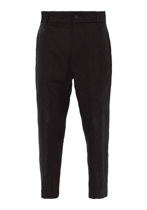 Ann Demeulemeester - Tapered Hemp Trousers - Mens - Black