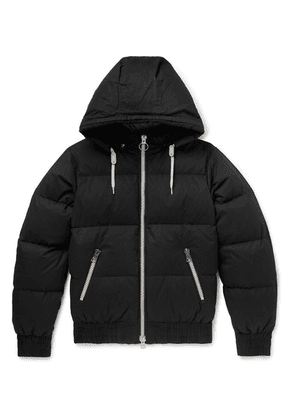AMI - Quilted Cotton-shell Hooded Down Jacket - Black