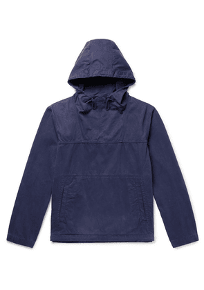 Albam - Johnson Garment-dyed Washed-cotton Hooded Jacket - Navy