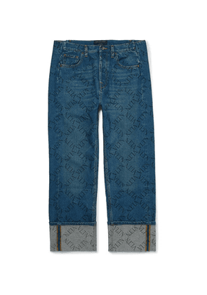 Valentino - Logo-print Denim Jeans - Light blue