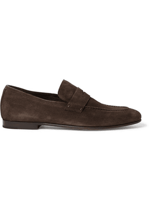 Dunhill - Chiltern Suede Penny Loafers - Dark brown
