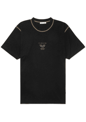 CMMN SWDN - Ridley Printed Cotton-jersey T-shirt - Black