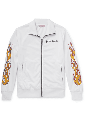 Palm Angels - Slim-fit Glittered Printed Tech-jersey Track Jacket - White