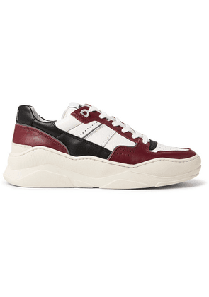 AMI - Panelled Leather Sneakers - Red