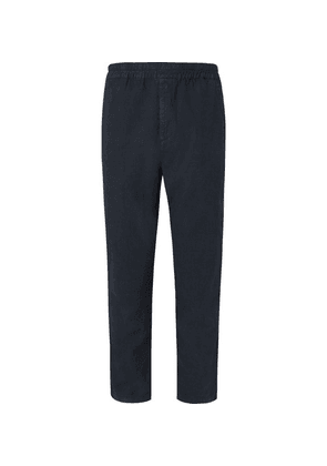 Folk - Navy Slim-fit Tapered Linen And Cotton-blend Suit Trousers - Navy
