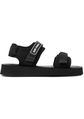 AMI - Logo-detailed Neoprene Sandals - Black