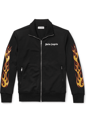 Palm Angels - Slim-fit Glittered Printed Tech-jersey Track Jacket - Black