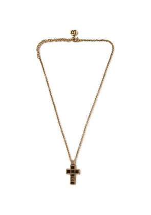 Gucci - Cross Gold-tone And Enamel Necklace - Gold