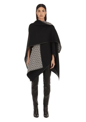 Wool & Leather Cape Poncho