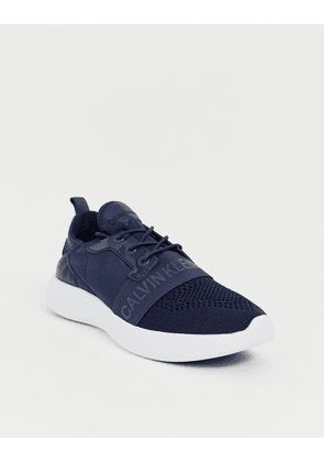 Calvin Klein Mel knitted trainers in navy