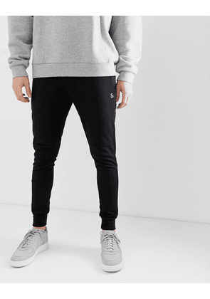 Jack & Jones joggers in black