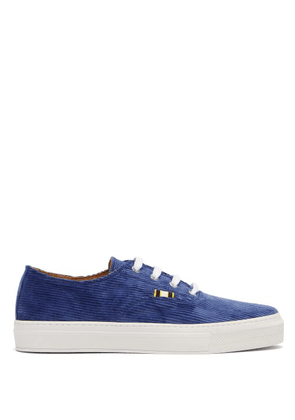 Aprix - Corduroy Low Top Trainers - Mens - Navy