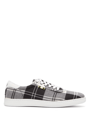 Aprix - Tartan Low Top Sneakers - Mens - Black Multi