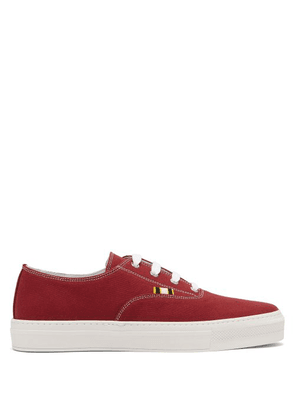 Aprix - Low Top Canvas Sneakers - Mens - Burgundy