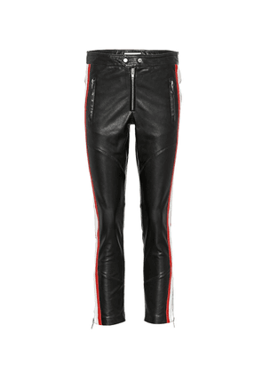 Aya cropped leather pants