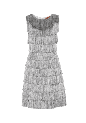 Metallic fringed dress