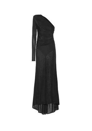 Ribbed jersey gown
