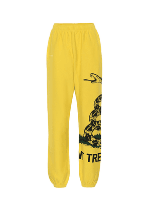Printed cotton trackpants