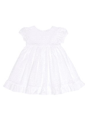 Embroidered dress and bloomers set