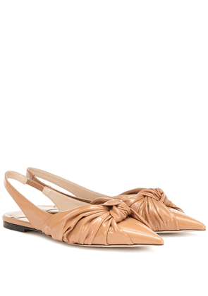 Annabell leather slingback flats