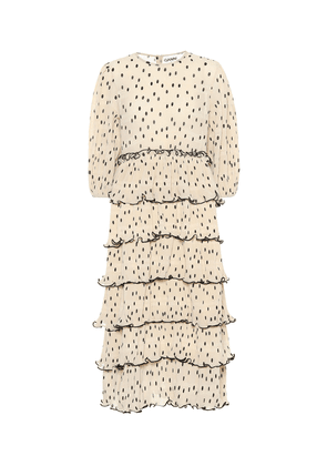 Dotted georgette dress