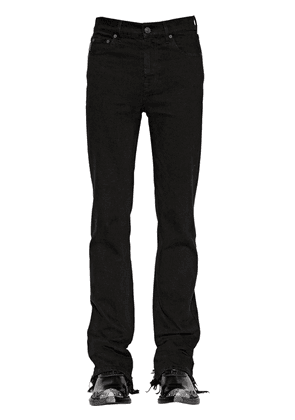 Distressed Slim Cotton Blend Jeans