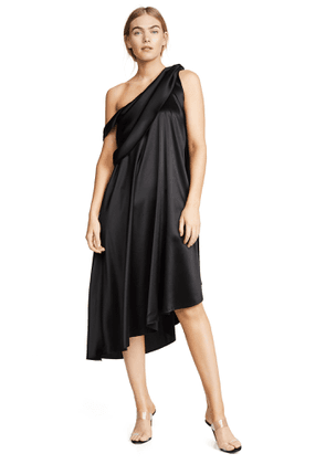 Baja East Wrap Drape Dress