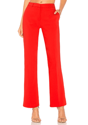 ANINE BING Frankie Pants in Red. Size L.