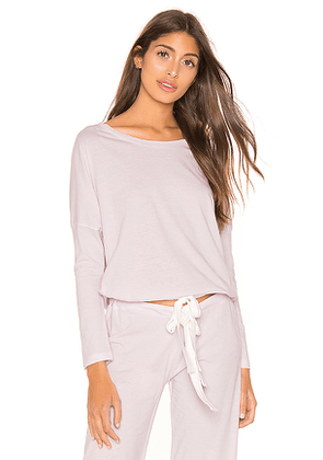 eberjey Heather Slouchy Tee in Lavender. Size M,S.