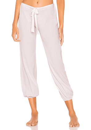 eberjey Heather Cropped Pant in Lavender. Size M,S.