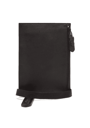 Lanvin - D Ring Leather Pouch - Mens - Black