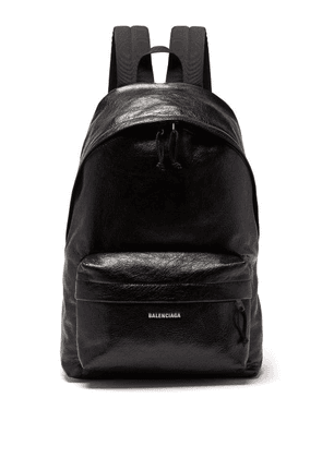 Balenciaga - Explorer Grained Leather Backpack - Mens - Black