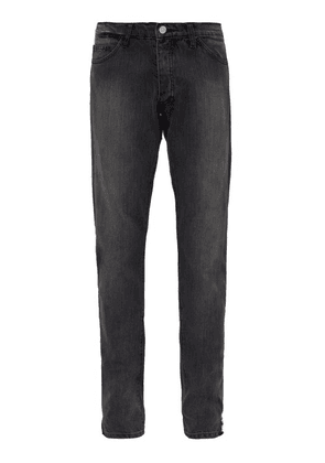 Rhude - Dirt Road Straight Leg Jeans - Mens - Light Grey