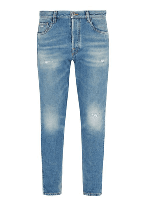 Prada - Straight Leg Distressed Jeans - Mens - Denim