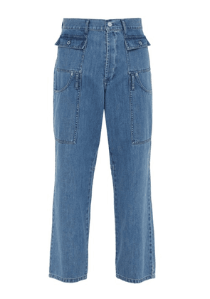 Jacquemus - Straight Leg Patch Pocket Jeans - Mens - Blue