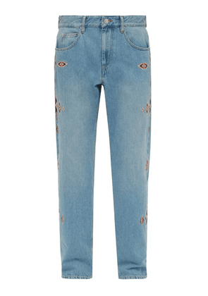 Isabel Marant - Jasper Embroidered Straight Leg Jeans - Mens - Blue