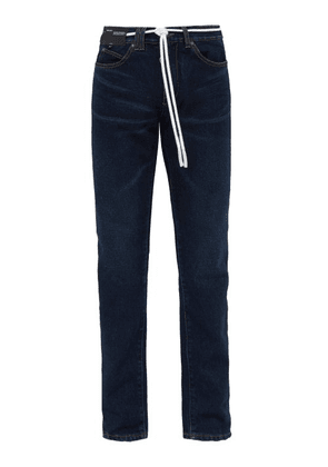 Off-white - Side Stripe Straight Leg Jeans - Mens - Indigo