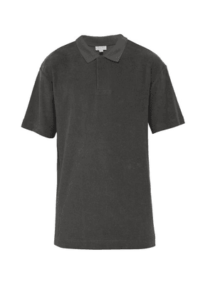 Sunspel - Terry Towelling Cotton Polo Shirt - Mens - Grey